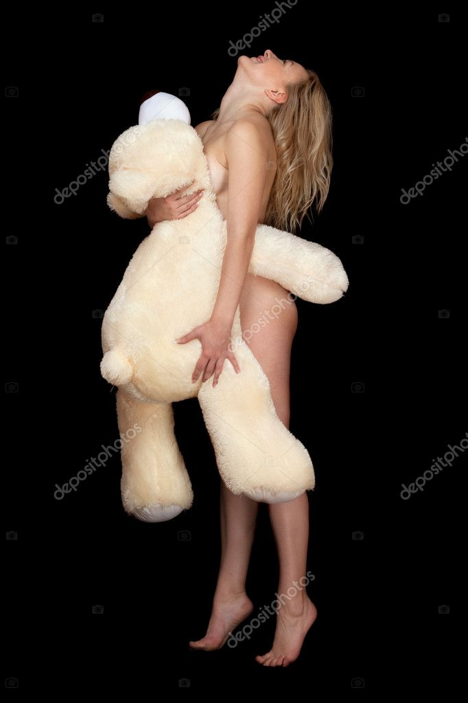 naked ladies with furry teddy bears