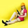 Sexy girl with drill — Stock Photo #6874861