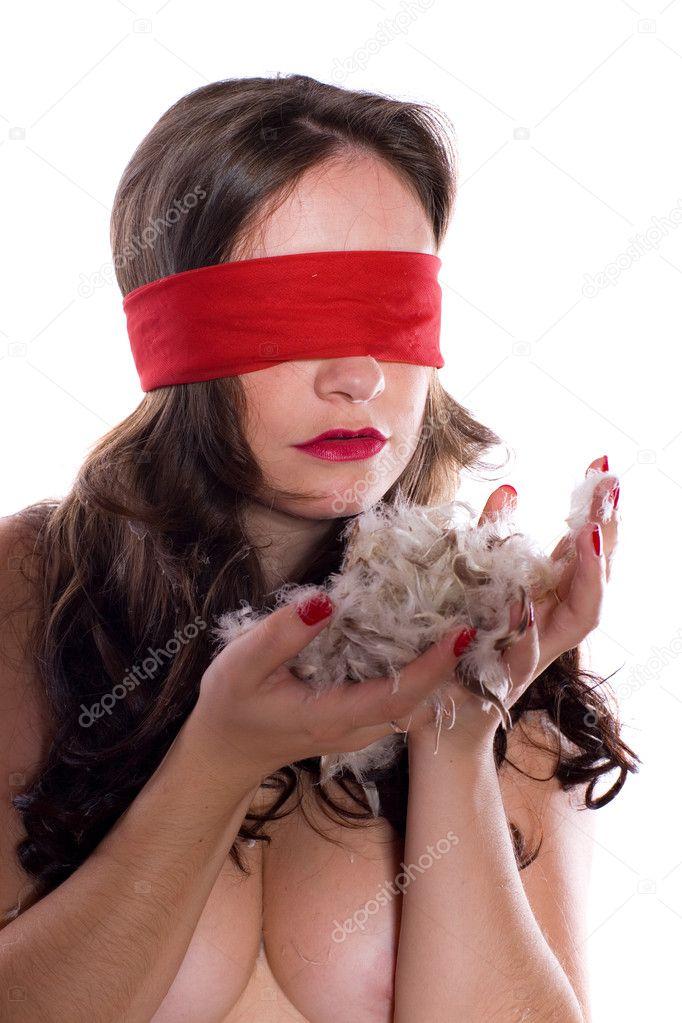 blindfolded naked girl images