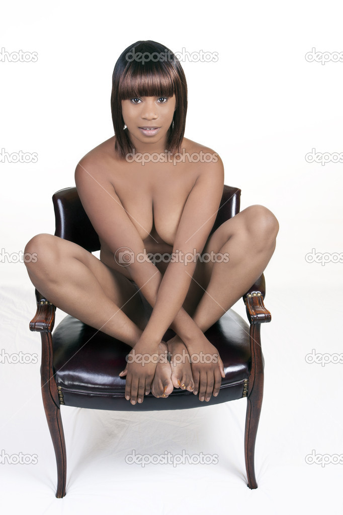 Naked Women Sitting On Chair