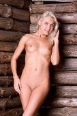 Portrét rustikální krásy. — Stock fotografie